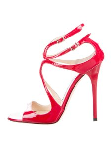 Jimmy Choo Patent Leather Lance Red Sandals