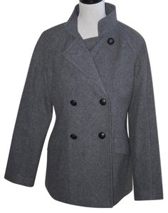 Banana Republic Grey Midlength Pea Coat