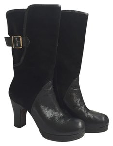Chie Mihara Leather Chunky Suede Black Boots