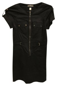Kenneth Cole Chic Attire Front Zipper Short Sleeve Dress
