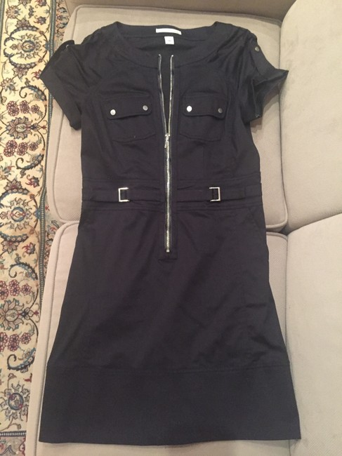 Kenneth Cole Chic Attire Front Zipper Short Sleeve Dress Image 7