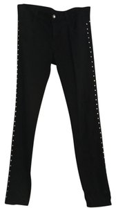 Zara Studs Skinny Pants black with grommets down the side