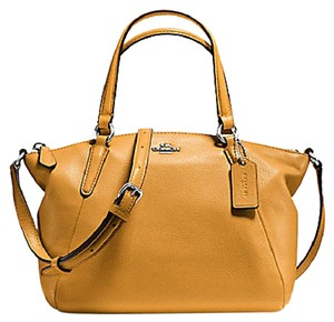 Coach Leather F57563 Satchel in yellow
