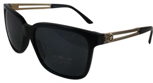 Versace New Versace MOD 4307-A GB1/87 Black Gold with Medosa Logo Plastic Style Sunglasses Asian Fit 145mm