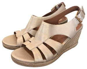 Clarks Light Gold Wedges