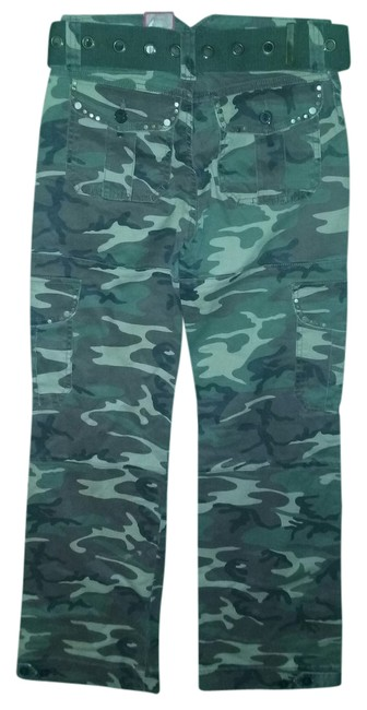 Item - Camo Green Ladies Camouflage with Embelishments Pants Size 0 (XS, 25)