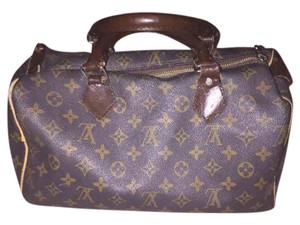 Louis Vuitton Lv Speedy Handbag Satchel in Brown