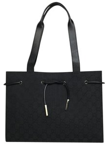 Gucci Gg Canvas Work Tote in Black