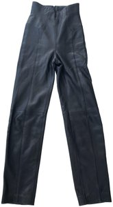 North Beach Leather High Waist Butter Soft Fitted Straight Pants Black