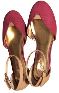 Seychelles pink and beige Flats