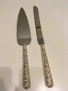 Rose Monique Lhuiller Waterford Stainless Steel Cake Knife And Server