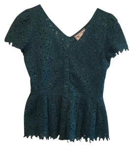 Anthropologie Top Teal