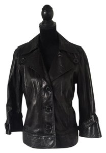Mike & Chris black Leather Jacket