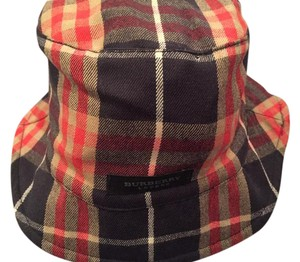 Burberry Burberry Bucket Hat - Black, Tan, Red Plaid