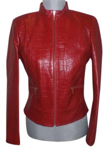 Cache RED Leather Jacket