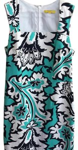 Banana Republic short dress turquoise and blue and white on Tradesy