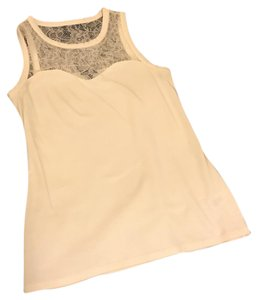 Express Lace Tank Top Cream