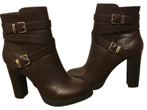 Forever 21 Ankle Chunky Heel brown Boots