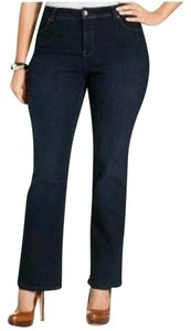 Style & Co & Jewel Bling Pockets Size 14 Straight Leg Jeans-Dark Rinse