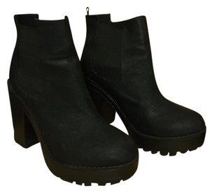 H&M Faux Leather Chunky Black Boots