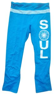 Lululemon FOR SOULCYCLE TURQUOISE SILVER SOULCYCLE TOTE INCLUDED CAPRI