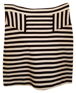 French Connection Striped Mini Skirt