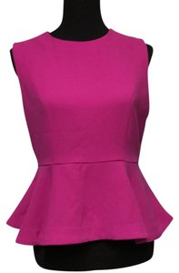 Forever 21 Peplum Sleeveless Top hot pink