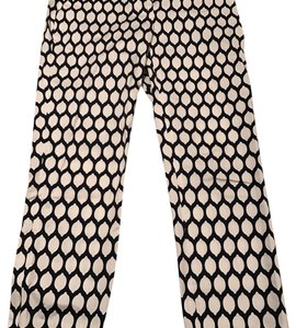 Kate Spade Straight Pants navy and white