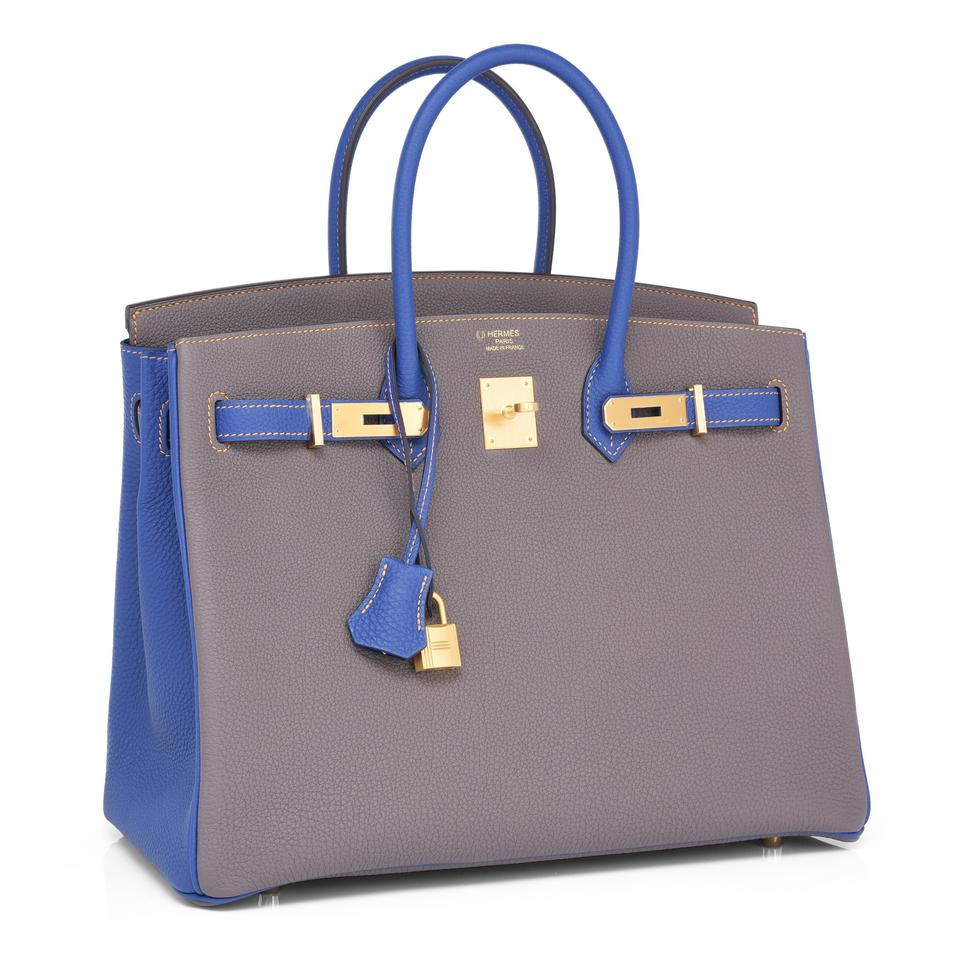 95190fd2c036 Hermès Birkin Hss Electric 35cm Togo Horseshoe Stamp Etain Leather ...