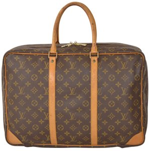 Louis Vuitton Keepall Suitcase Travel Travel Weekend Brown Travel Bag