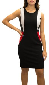 Katherine Barclay short dress Black/Grey Red on Tradesy