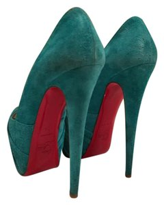Christian Louboutin Suede Luxury Party Agua Platforms