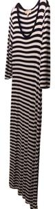 Black and white - stripes Maxi Dress by Michael Kors