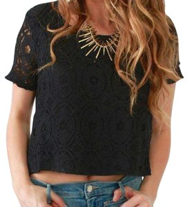 MINKPINK Top BLACK