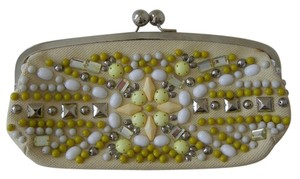 Chloé Beaded Iconic Evening Yellow Clutch