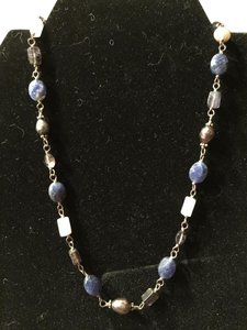 Silpada Blue Lapis & Pearl Necklace