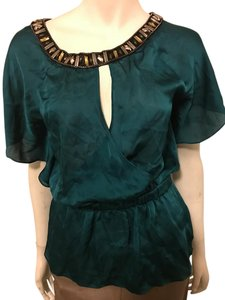 Bebe Blouse Top green