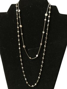 Silpada Antique silver and cubic zircona necklace