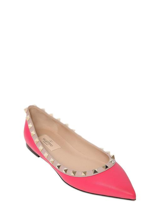 Item - Pink Studded Flats Size US 8.5 Regular (M, B)