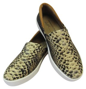 Donald J. Pliner Brand New Size 6.00 M Reptile Design Excellent Condition Black, Brown, Neutral, White Flats