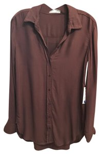 Bella Dahl Button Down Shirt Dark Cocoa