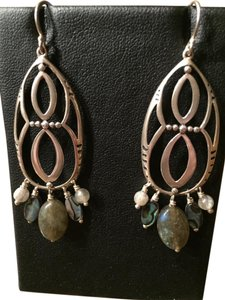 Silpada Antique Sterling Etched Teardrop Earrings