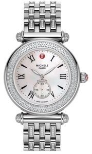Michele NWB Michele Caber Diamond Watch with Stainless Steel Band
