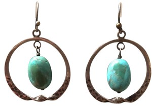 Silpada Antique Silver Earrings with Turquoise