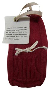 Anthropologie Anthropologie Red Cashmere Phone Ipod Gadget Hoodie NWT $48 RARE