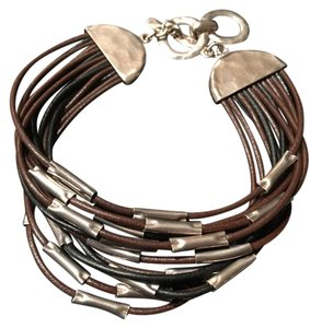 Silpada Layers of Leather Bracelet