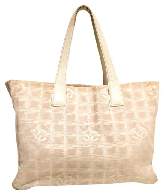 Item - Shopping Bag K266 Travel Line Mm Beiges Cream Canvas Tote