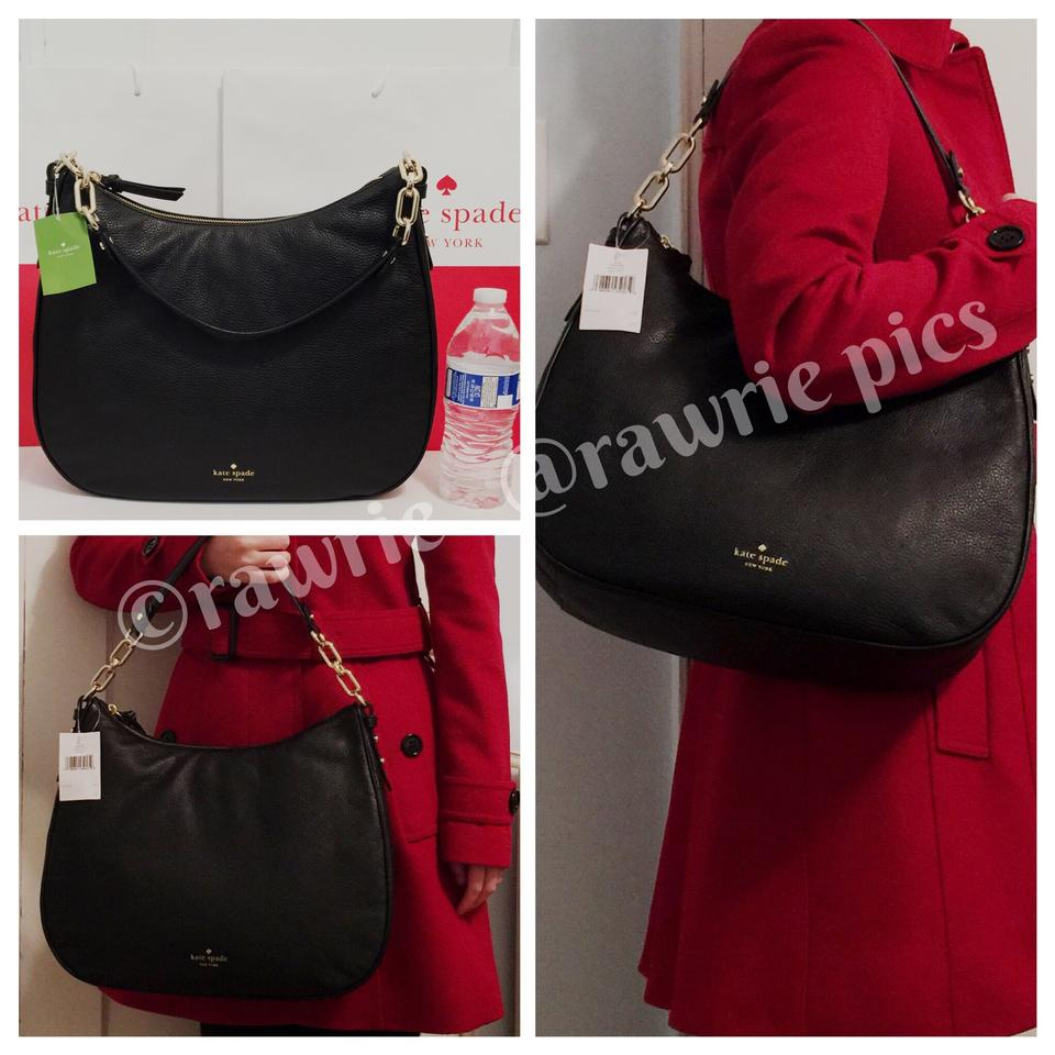 Kate Spade Slouchy Soft Leather Leather Classic Large Shoulder Bag Image 3.  1234 e1a2619d4d281