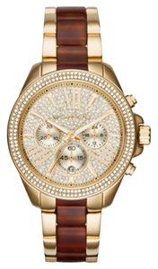 Michael Kors NEW WOMENS MICHAEL KORS (MK6294) GOLD TONE AMBER TORTOISE WATCH