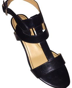 Nine West Spring Wedge Strappy Work Black Sandals